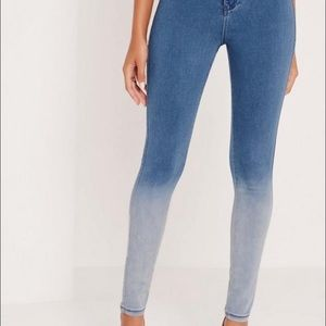 Missguided ombre high waisted skinny jeans